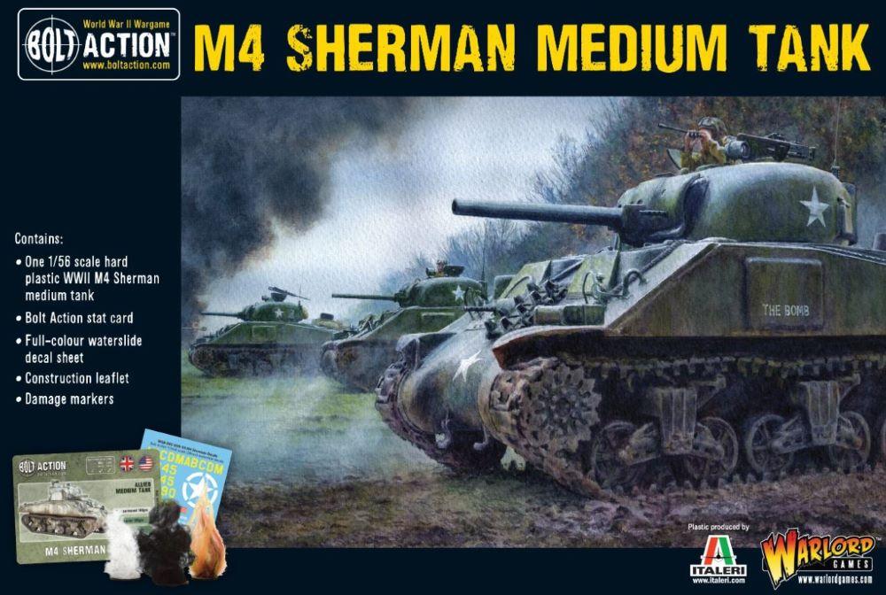 Warlord Games 28mm Bolt Action: WWII M4 Sherman US Medium Tank (Plastic)