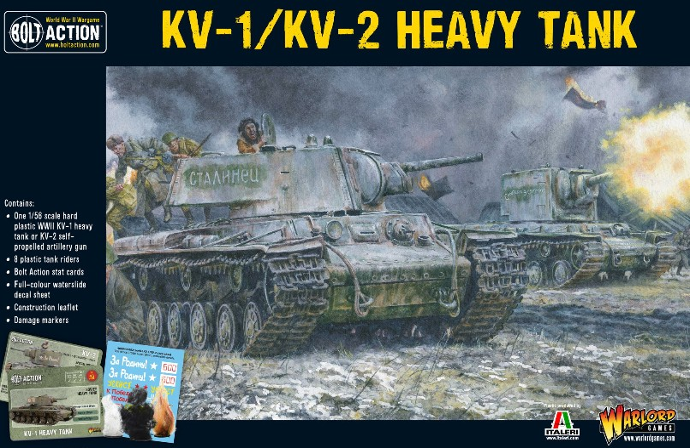 Warlord Games 28mm Bolt Action: WWII KV1/KV2 Soviet Heavy Tank (Plastic)