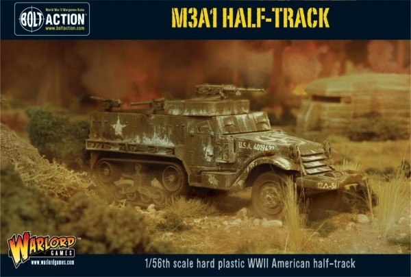 Warlord Games 28mm Bolt Action: WWII M3A1 US Halftrack (Plastic)