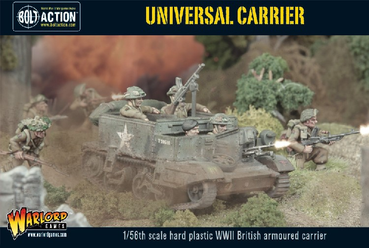 Warlord Games 28mm Bolt Action: WWII British Armored Universal Carrier (Plastic)