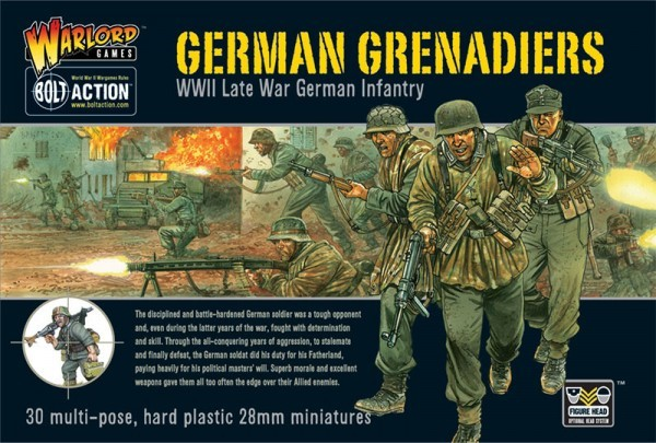 Warlord Games 28mm Bolt Action: WWII Late War German Grenadiers (30) (Plastic)