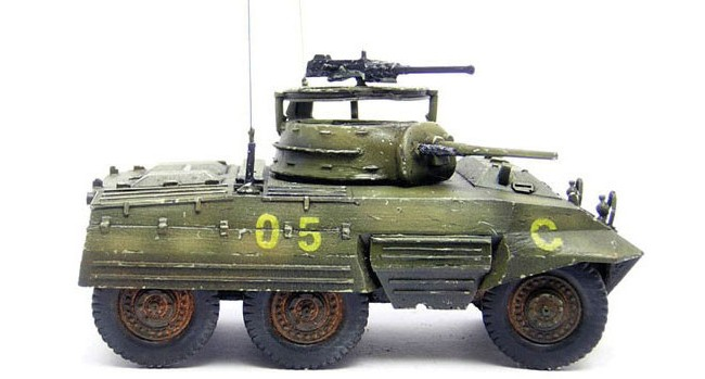 Warlord Games 28mm Bolt Action: WWII M8 Greyhound Armored Car (Resin w/Metal Par