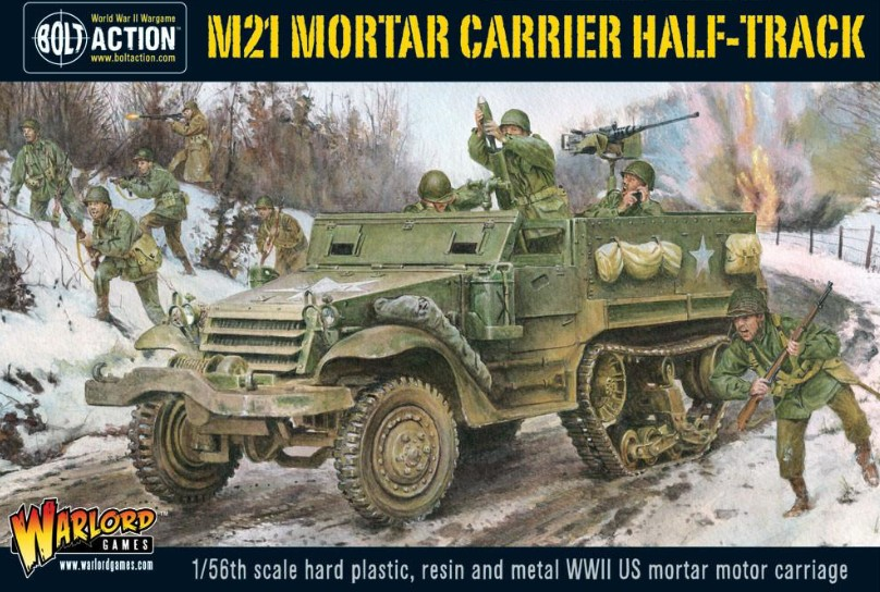 Warlord Games 28mm Bolt Action: WWII M21 Mortar Carrier US Halftrack (Plastic w/
