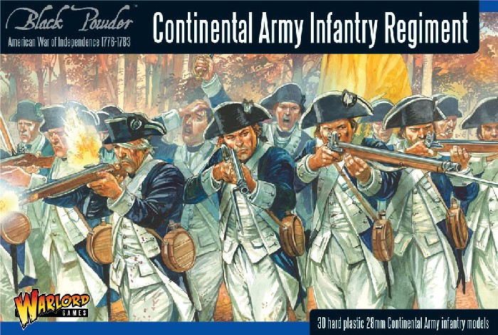 Warlord Games 28mm Black Powder: Continental Infantry Regiment 1776-1783 (30) (P