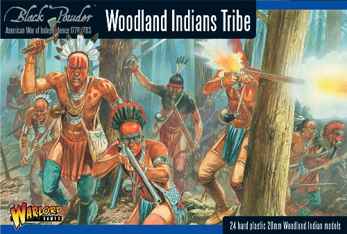 Warlord Games  28mm Black Powder: Woodland Indians Tribe 1776-1783 (24) (Plastic
