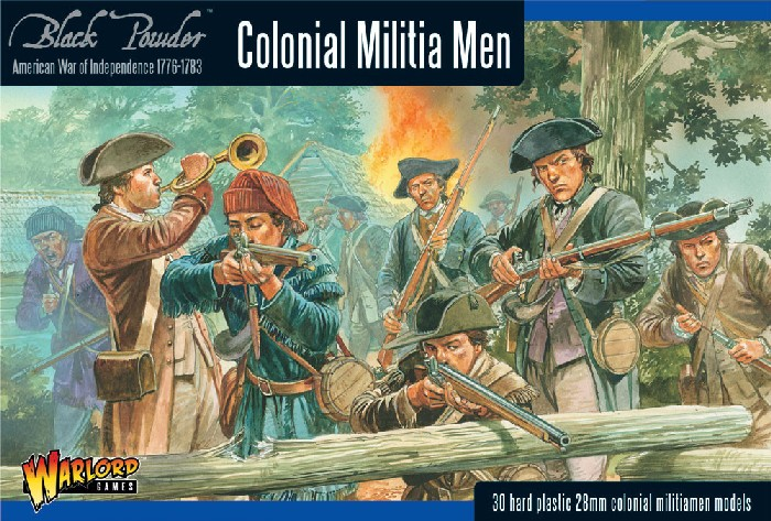 Warlord Games 28mm Black Powder: Colonial Militia Men 1776-1783 (30) (Plastic)
