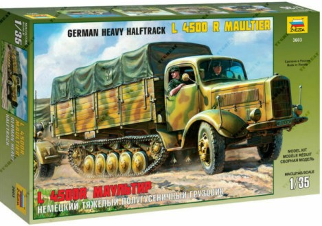 Zvezda 1/35 German L4500R Maultier Halftrack