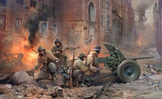 Zvezda 1/35 German Anti-Tank Pak 36 Gun w/4 Crew