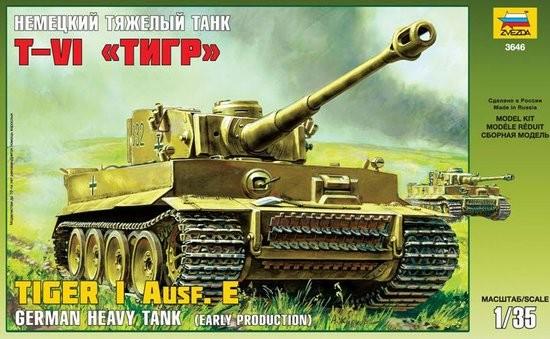 Zvezda 1/35 German Tiger I Ausf E Early Tank