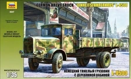 Zvezda 1/35 Einheitsfahrerhaus L4500 German Heavy Truck