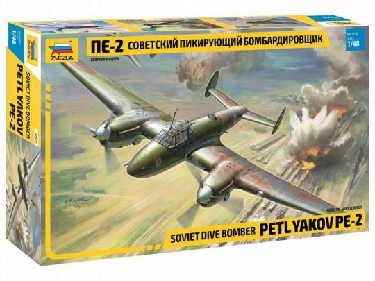 Zvezda 1/48 Pe2 Soviet Dive Bomber (New Tool)