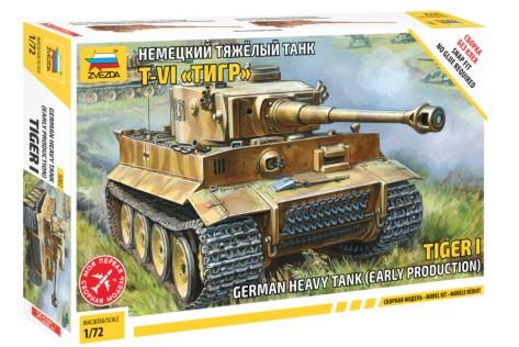 Zvezda 1/72 German Tiger I Early Heavy Tank (Snap)
