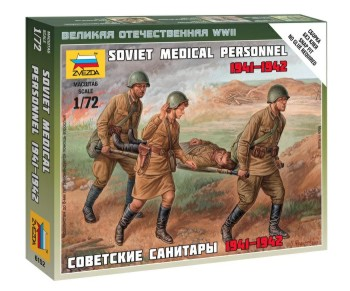 Zvezda 1/72 Soviet Medical Personnel 1941-42 (4) (Snap)