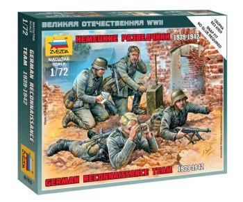 Zvezda 1/72 German Recon Team 1939-42 (4) (Snap)