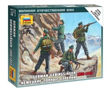 Zvezda 1/72 German Mountain Troops 1939-43 (4) (Snap)