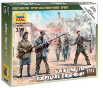 Zvezda 1/72 Soviet Militia 1941 (5) (Snap)