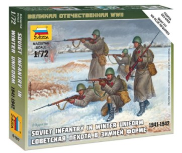 Zvezda 1/72 Soviet Infantry Winter Uniform 1941-42 (5) (Snap)
