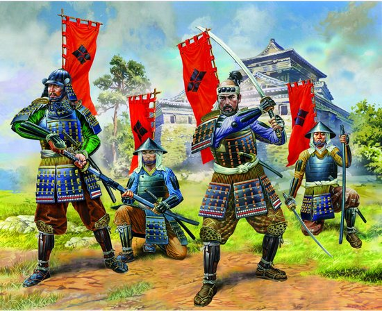 Image 0 of Zvezda 1/72 Samurai Warriors (5 w/Field Swords) (Snap)