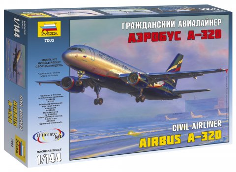Zvezda 1/144 Airbus A320 Airliner