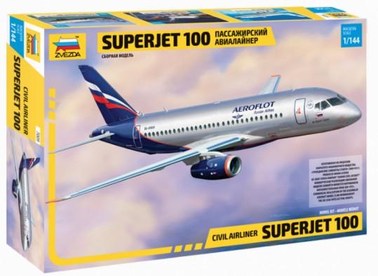 Zvezda 1/144 Sukhoi Superjet 100 Passenger Airliner