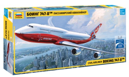 Zvezda 1/144 B747-8 Intercontinental Passenger Airliner