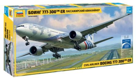 Zvezda 1/144 B777-300 Passenger Airliner (New Tool)