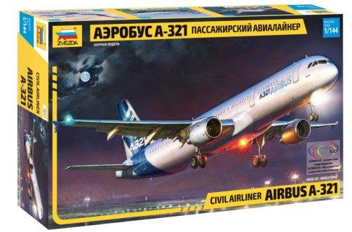 Zvezda 1/144 Airbus A321 Passenger Airliner