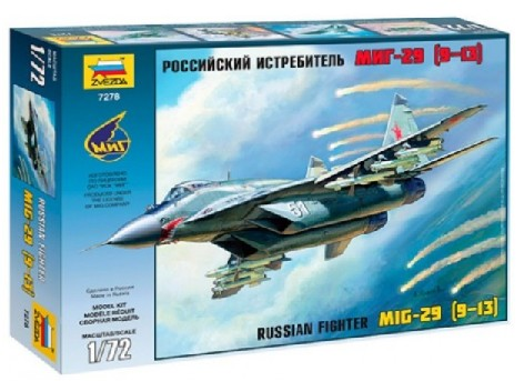 Zvezda 1/72 MiG29S (9-13) Russian Fighter (New Tool)
