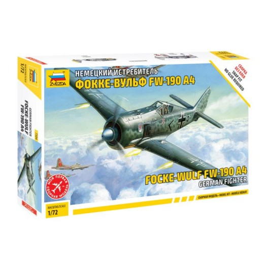 Zvezda 1/72 Fw190A4 German Fighter (Snap)