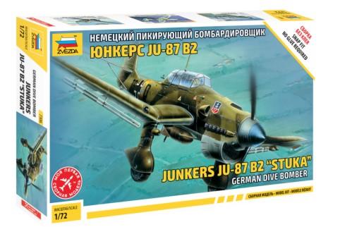 Zvezda 1/72 Ju87B Stuka Bomber (Snap) (New Tool)