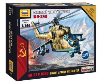 Zvezda 1/144 MI24v Hind Russian Attack Helicopter (Snap)
