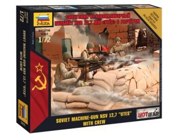 Image 0 of Zvezda 1/72 Modern Soviet Machine Gun NSV 12,7 UTES w/3 Crew (Snap)