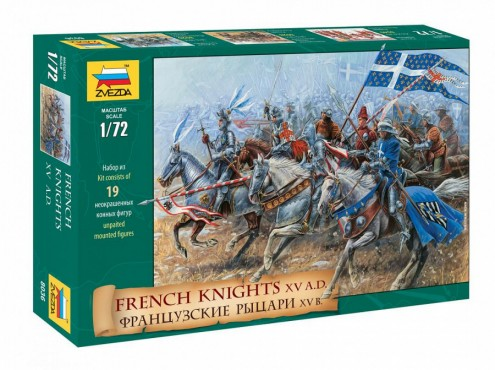 Zvezda 1/72 French Knights XV Century (19 Mtd)