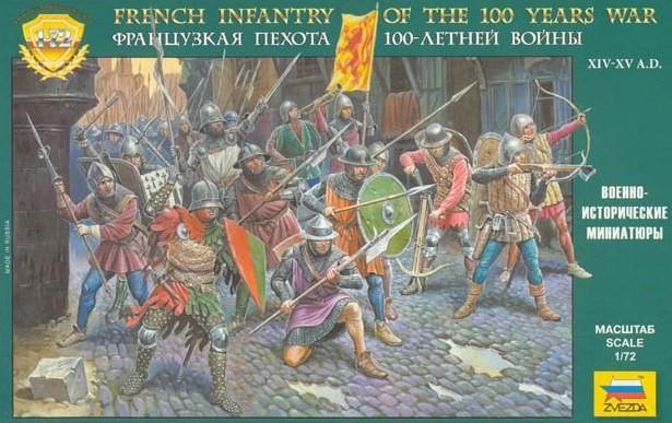 Zvezda 1/72 French Infantry 100 Year War XIV-XV AD (43)