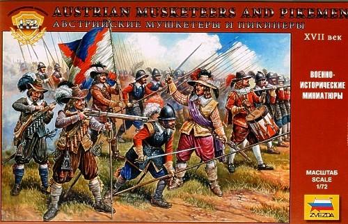 Zvezda 1/72 Austrian Musketeers & Pikemen XVI-XVII Century (45)