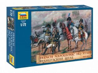Zvezda 1/72 French Headquarter Staff Napoleonic War 1805-14 (18 Mtd & 10 Foot)