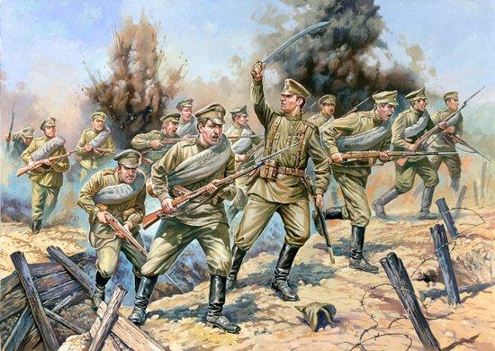 Zvezda 1/72 WWI Russian Infantry w/Machine Gun (40)