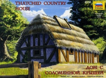 Image 0 of Zvezda 1/72 European Thatched Medieval House